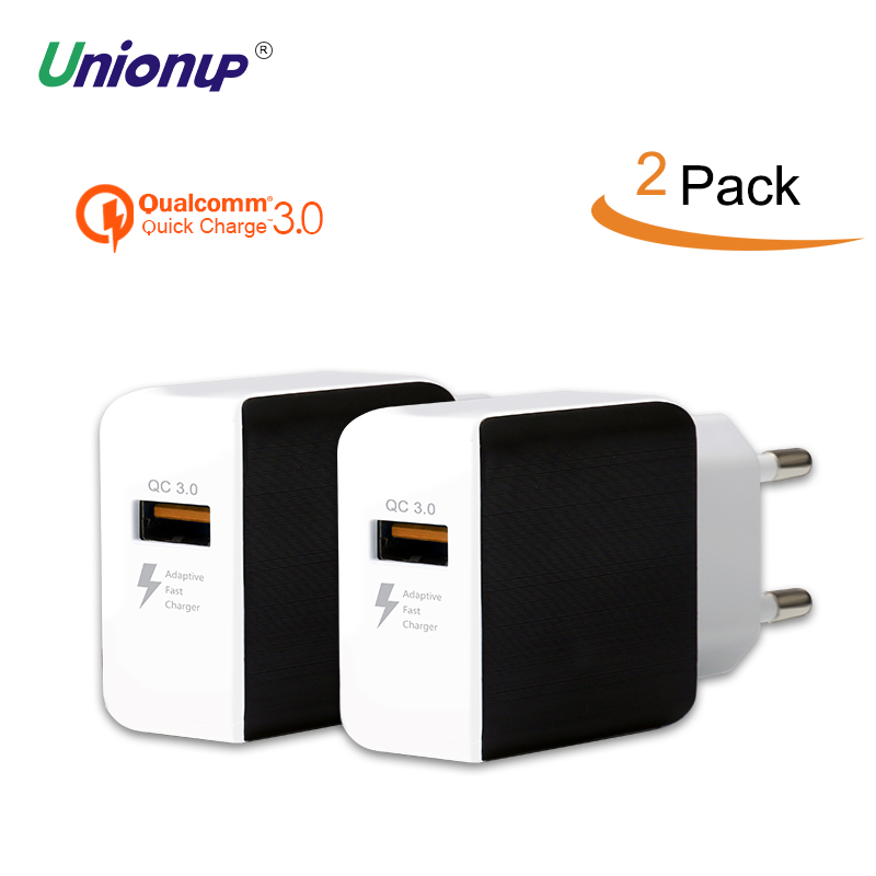 Unionup USB Charger EU Plug Travel Charger Adapter Quick Charge QC3.0 Fast Charge 19W For Mobile Phone Xiaomi Redmi 4X 5plus