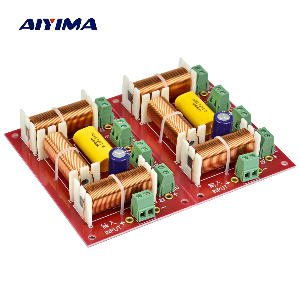 AIYIMA 2Pcs 200W 3 Ways Speaker Crossover Treble + Midrange + Dual Bass Crossover Speakers Audio 4 Ways Filter Frequency Divider