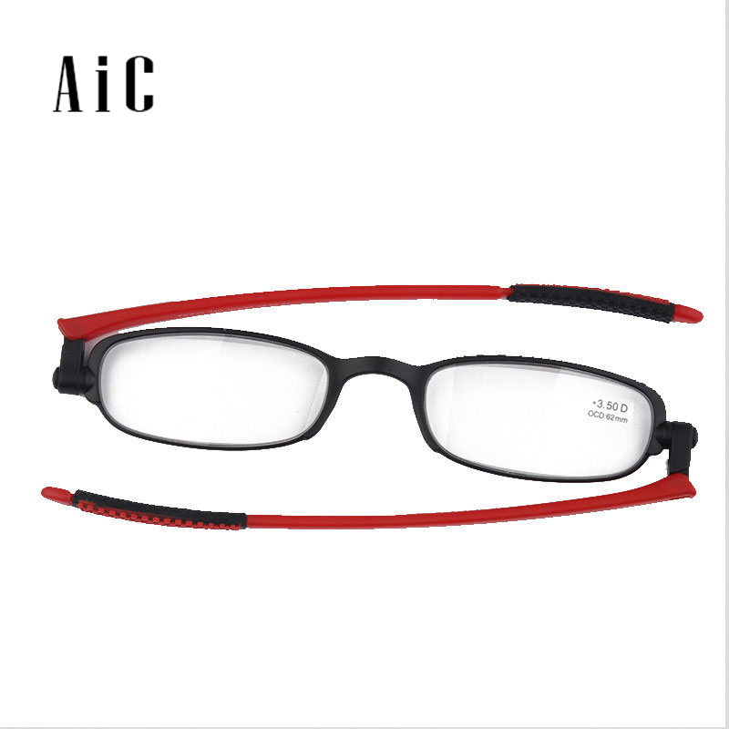 AIC Fashion Reading Glasses Men And Women Ultralight Rimless Reading Glasses HD Resin 1.0 1.5 2.0 2.5