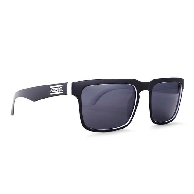 e3bcade05 KDEAM Cor Preto e Branco Dos Homens Polarizados óculos de Sol Óculos de Sol  Com Espelho
