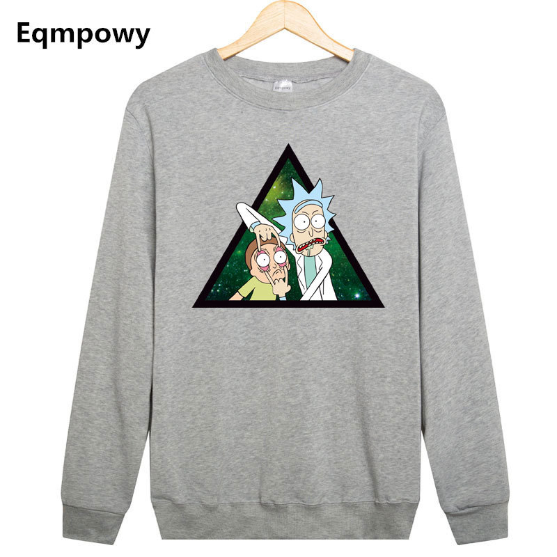 Eqmpowy Sweatshirt Rick And Morty printed hoodies Sweatshirt men tracksuit hoodie Mens Hoodies moletom masculino men clothing
