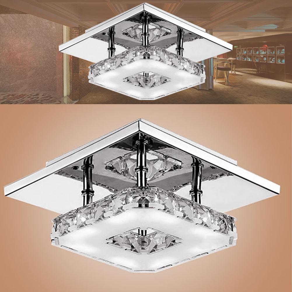 ФОТО Easy to Install 85-265V High Quality Modern Crystal Ceiling Lamp Warm White Corridor Lights Lamp