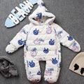 2016 Duck down Baby Rompers Winter Thick Boys Costume Girls Warm Infant Snowsuit Kid Jumpsuit Children Outerwear Baby Wear