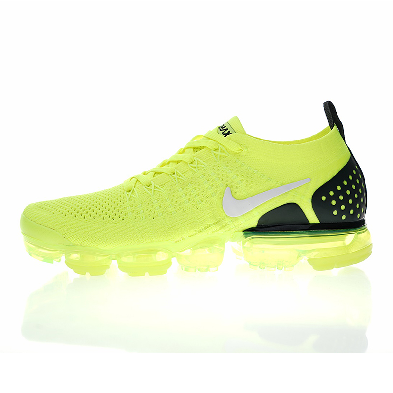 best website b58de 419b9 Nike Air VaporMax Flyknit 2.0 W Mens and Womens Running Shoes, Shock  Absorbing Breathable Wear-resistant Yellow 942842 701