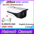 Original Dahua stellar camera DH-IPC-HFW4431M-I1 4MP Network IR Bullet H265 H264 Camera CCTV IP IPC-HFW4431M-I1 with bracket