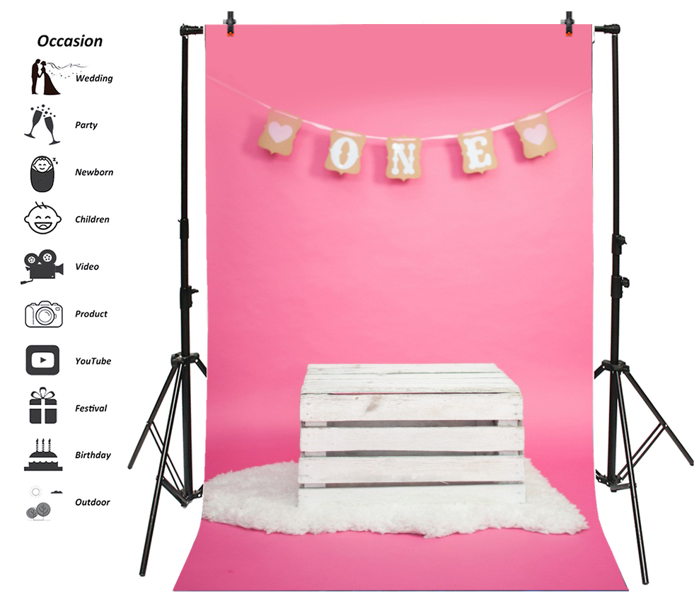 Laeacco Baby 1st Birthday Party Wooden Chair Carpet Photography Backgrounds Customized Photographic Backdrops For Photo Studio in Background from Consumer Electronics