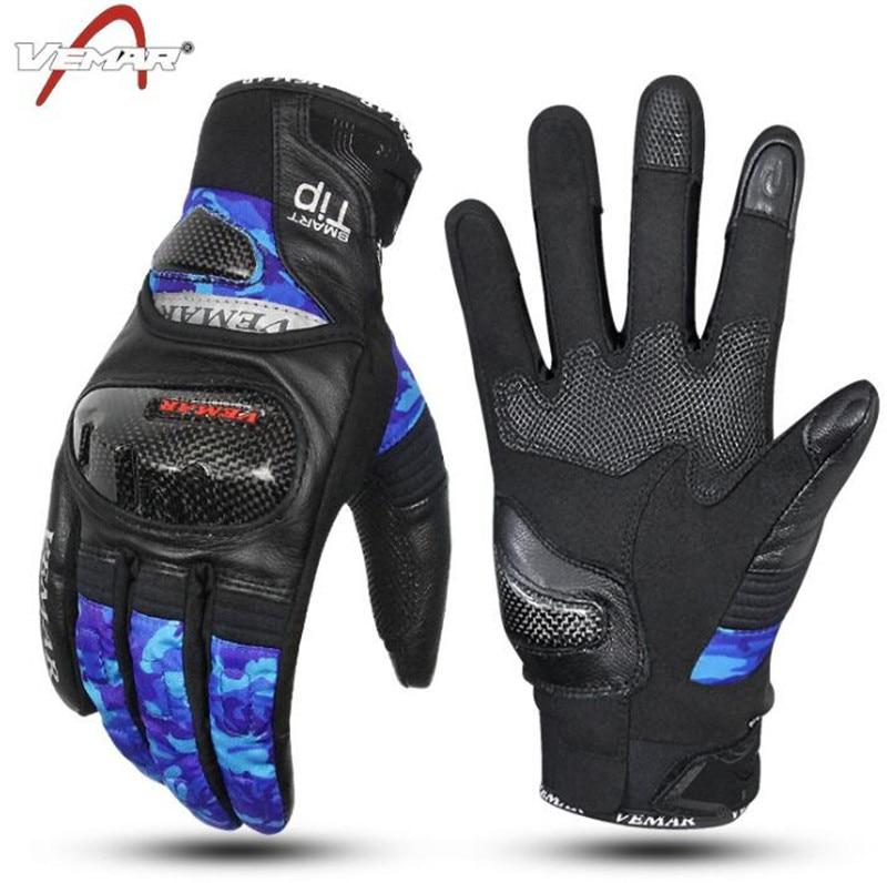 VEMAR Motocross Gloves Motorcycle Touch Screen Moto Waterproof Winter Motorbike Riding