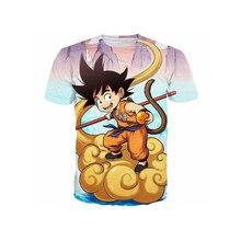 Dragon Ball Z Goku 3D t shirt Funny Anime Super Saiyan t shirts 2016 Women Men Harajuku tee shirts Homme Cartoon Plus S-6XL R802