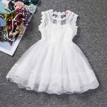 White Princess Wedding Tutu Dress Children Clothing Summer 2017 Formal Toddler Girl Party dress for Girls