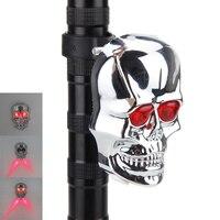 Hot Bike Light Bicycle Accessories 2 LED Skull Style Safety Warning Lamp Flashing Led Rear Light