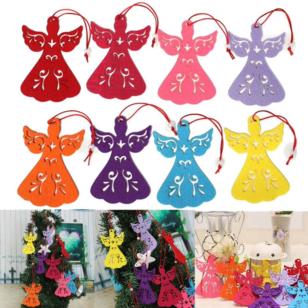 Pc colorful angel wings christmas tree decorations