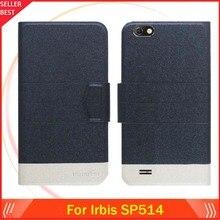 5 цветов Лидер продаж! Irbis SP514 чехол ультра-тонкий кожаный эксклюзивный чехол-книжка для телефона с отделениями для карт