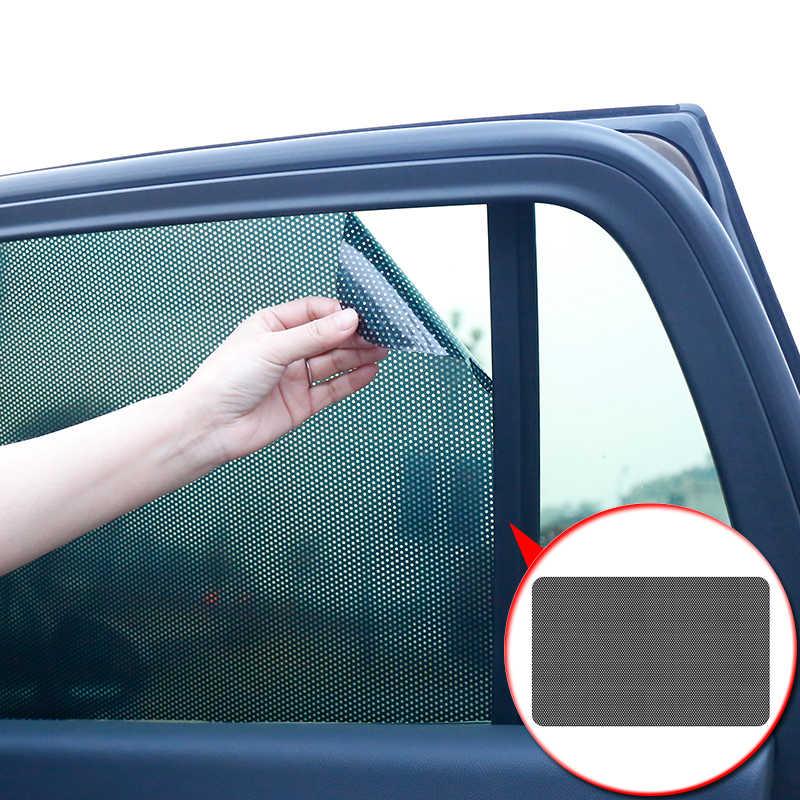 Style de voiture 2 pièces/ensemble PVC fenêtre latérale de voiture pare-soleil électrostatique autocollant Film solaire autocollants couverture automobile accessoires