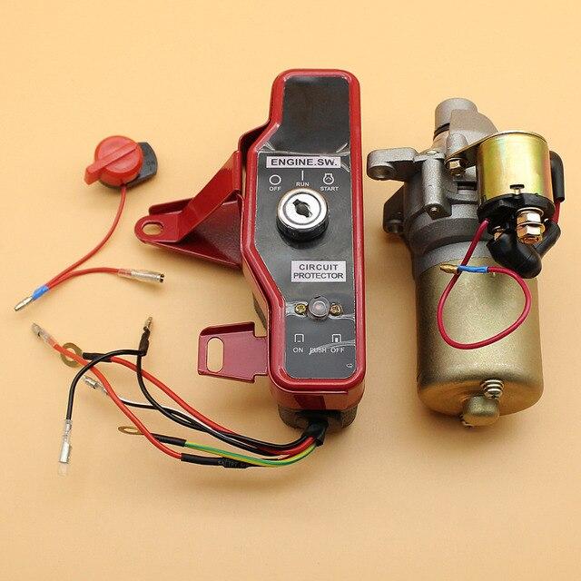 Starter Motor Ignition Switch Control Box Key Kit Fit HONDA GX160 – Honda Gx200 Wiring