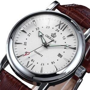 Image 2 - Мг. Часы наручные ORKINA с японским механизмом Miyota, с серебристым ремешком