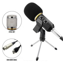 MK F600FL USB Condenser desktop Microphone with cable jack For Computer Professional Studio Recording 3.5mm Wired Mic PK bm 800