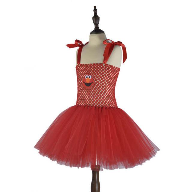 placeholder Cute Cartoon Girls Party Dress Baby Kids Cosplay Elmo Tutu Dresses  Christmas Costume Children New Year 4f1754b43af7