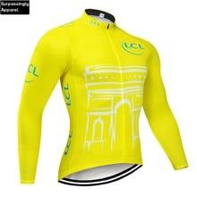 2019 Yellow Cycling Jersey Long Sleeve Men Motocross Mountain Bike Bicycling Clothing DH MTB Bike Sportswear