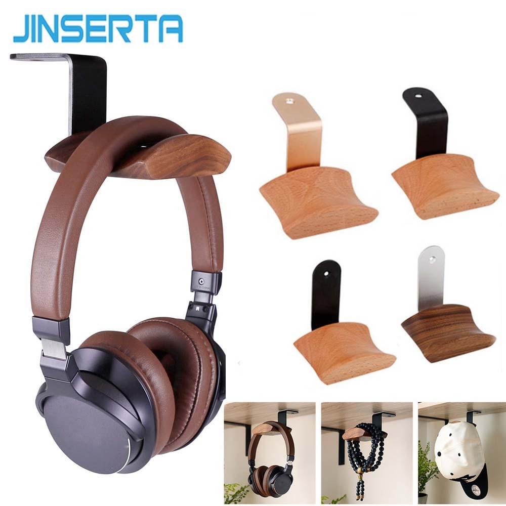 JINSERTA Headphones  Stand Universal Headphone Headset Hanger Wall Hook Earphone Stand Rack Holder Rack Accessories