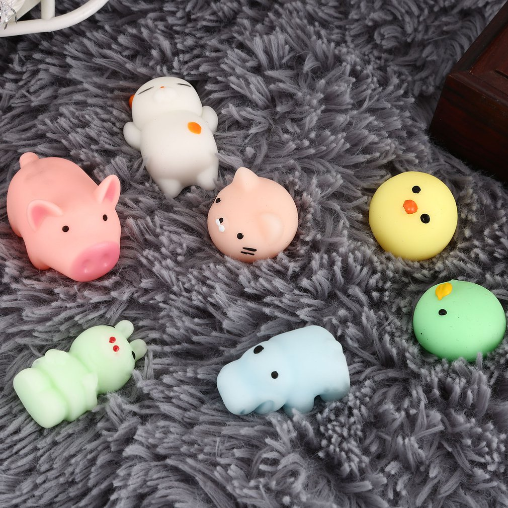 Squishy Mini Squishy Stress Reliever Toys Cute Animal Design Skuishy Animales Panda For Squeeze Decompression Toy For Kids Adult