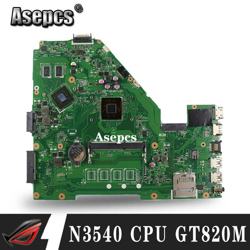 Asepcs N3540 CPU X550MJ GT820M 2GB mainboard X550MD REV 2,0 für ASUS X550M X552M Y582M X550MD X550MJ Motherboard 100% test Ok