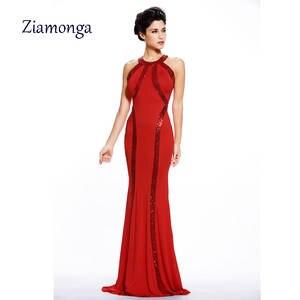 Ziamonga Elegant Women Red Black Summer Sexy Long Dress 2ff019ad272b