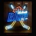 Labatt Blue beer sinal de Néon Lâmpadas Tubo Artesanais Real de Vidro Real Recreação Garagem Exibição Atrair Hotel Alta Qualidade VD 27x24