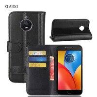 KLAIDO Genuine Cow Leather Case For Motorola Moto E4 Plus Luxury Flip Phone Bags For Moto