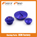 Blue Engine Timing Cover Oil Filter Plug Set For YZ250F 01-13 YZ450F 03-05 WR250R WR250X Dirt Bike Offroad