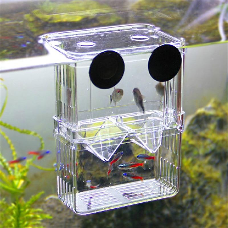 Ikan Pembiakan Isolasi Kotak Ganda Guppies Menetas Inkubator untuk Ikan Tangki Akuarium Bibit Reproduksi Akuarium Aksesoris-Internasional