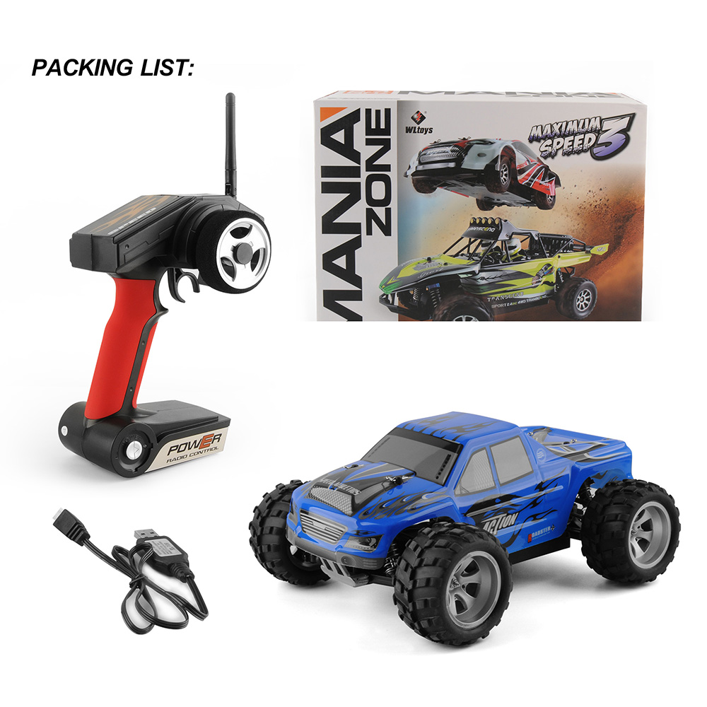 Wltoys A979 1/18 2.4GHz 4WD High speed 50km/h Monster Rc Racing Car Remote Control Cars Radio-controlled Cars Machine Toys