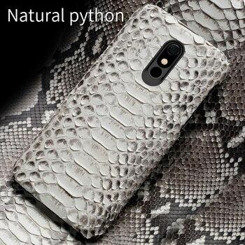 100% Echt Snakeskins Lederen Telefoon case Voor LG Stylo 5 Covers Luxe Gevallen voor LG Stylo 4 V40 V50 G7 g8 ThinQ G8s ThinQ G6 G5