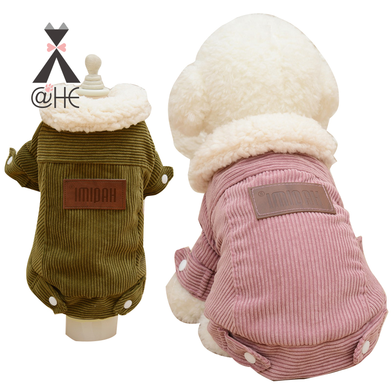 @HE New Winter Pet Dog Clothes Warm Lamb Velvet Jacket Cute Couple Cloth For Dogs Chihuahua Teddy Pets Cloth