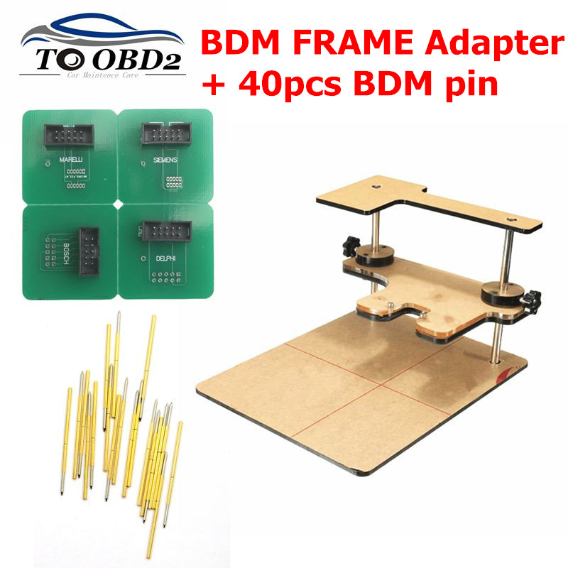 BDM FRAME Adapter And BDM Pin 40pcs Only Adapter+Pins Works With BDMFrame Ktag K-tag Kess V2 Bdm100 FGtech BDM100 ECU Programmer
