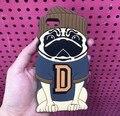 Lindo de la Historieta 3D Animal Perro Pug Funda de Silicona Suave de la Contraportada cubierta de la capa para carcasas coque casco para iphone 6 6 s case