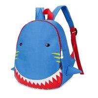 חדש תיק גן תיק בית ספר לילדים Cartoon בעלי החיים כריש כחול קטן תיקי בית ספר לילדים בני בנות תרמיל עמיד למים