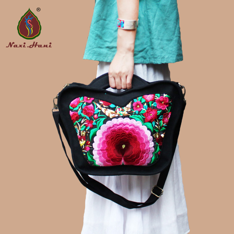 ФОТО Newest brand Ethnic embroidery women bags Retro designer canvas shoulder messenger bags fashion casual travel bags