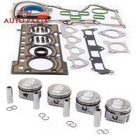 NEW Engine Rebuilding Kits & STD Piston Assembly 03C 107 065 BF Pin 19mm For Audi A1 VW Golf Passat Tiguan 1.4TSI 03C 103 383 AE