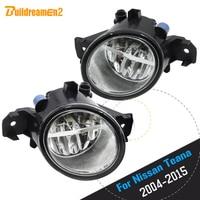 Buildreamen2 For Nissan Teana 2004 2015 Car Accessories H11 4000LM LED Light Right + Left Fog Light 12V High Bright 2 Pieces
