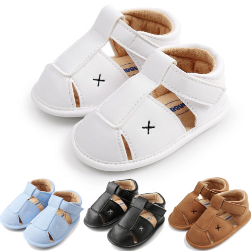Emmababy Newborn Baby Girls Boy Anti-slip Leather Crib Shoes Soft Sole Sneakers Prewalker