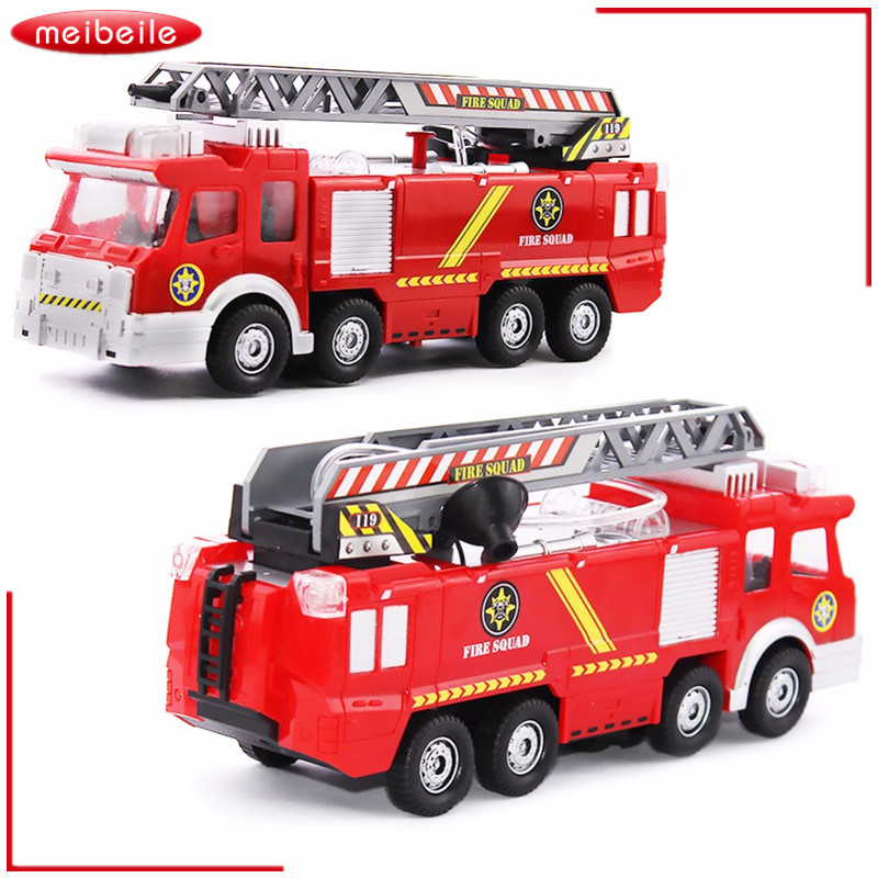 Toy Truck In Original Box Fireman Sam Toys Fire Truck With LED Siren Toys For Boy