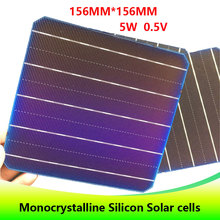 20 PCS 5BB high efficient 0.5v 5w 156*156MM Photovoltaic monocrystalline Silicon solar Grade A 100W for home solar cell DIY use