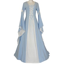 Women's Custom Made Dress Medieval Victorian Gothic Dress with Long Trumpet Sleeve for Evening Party&Wedding Ceremony