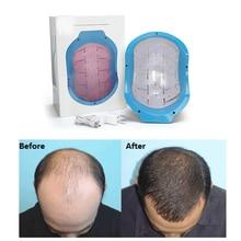 2019 Updated Laser Hair Regrowth Helmet Hair Treatment Therapy Helmet Oil Control Anti Hair Loss Cap Promote Hair Regrowth Cap недорого