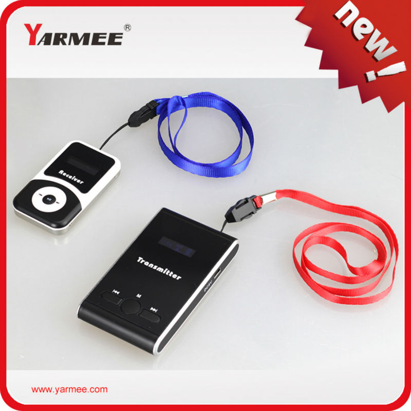 YARMEE YT100 wireless tour guide system whisper guide transmitter and receiver 1 transmitter+10 receivers+mic+earphone+8 charger