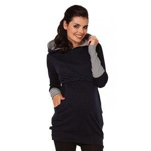 Image 3 - יולדות סיעוד הסווטשרט חורף הריון בהריון נשים סלעית חולצות T חולצה סתיו בגדי הנקה