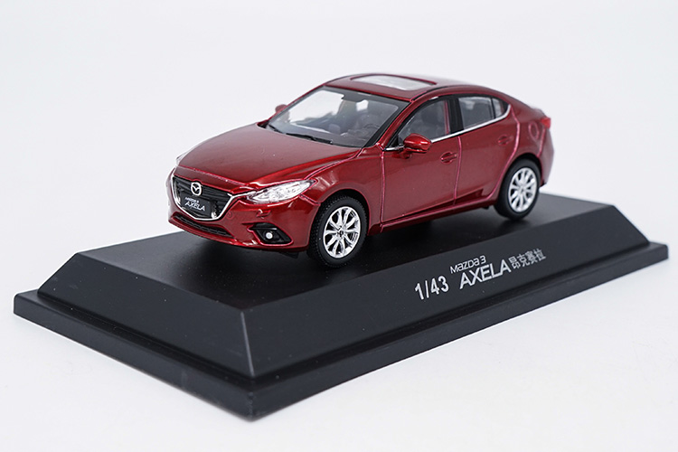 1:43 Diecast Model for Mazda 3 Axela 2014 Red Sedan Alloy Toy Car Miniature Collection Gifts Mazda3 blue 2014 1 18 mazda 3 axela hatchback diecast model car mini model car kits 2 colors available limitied edition hatch back