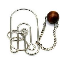 Metal Wooden Rope Puzzle Logic Mind Brain Teaser String Loop Rings Puzzles Game Toys for Adults Children Toys
