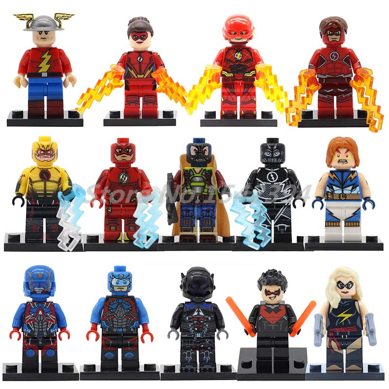 The Flash DC Super Heroes Action Model Single Sale Justice League Building Block Jesse Quick Lightning Lad Bricks Toys For Kids single sale mighty micros robin bane ultron batman super heroes justice league minifig model building blocks kids toys