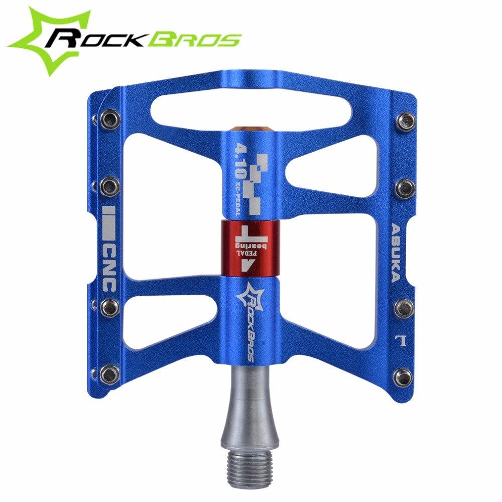 Педали для горного велосипеда ROCKBROS, ультралегкие педали из алюминиевого сплава для езды на велосипеде, противоскользящие педали для езды н...